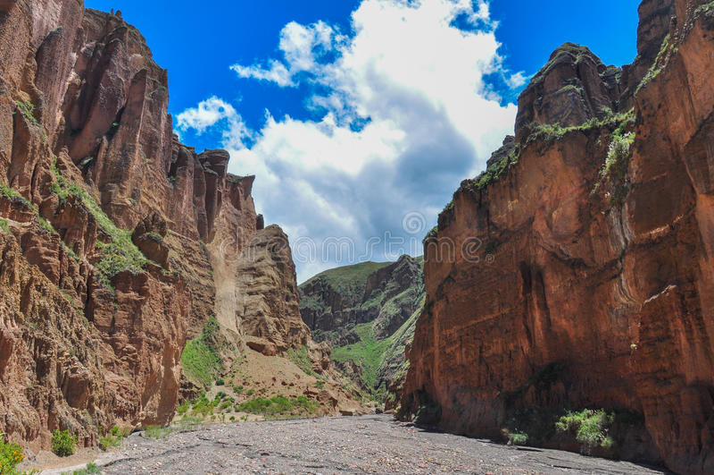 Canyon de Palca near La Paz, Bolivia stock photography