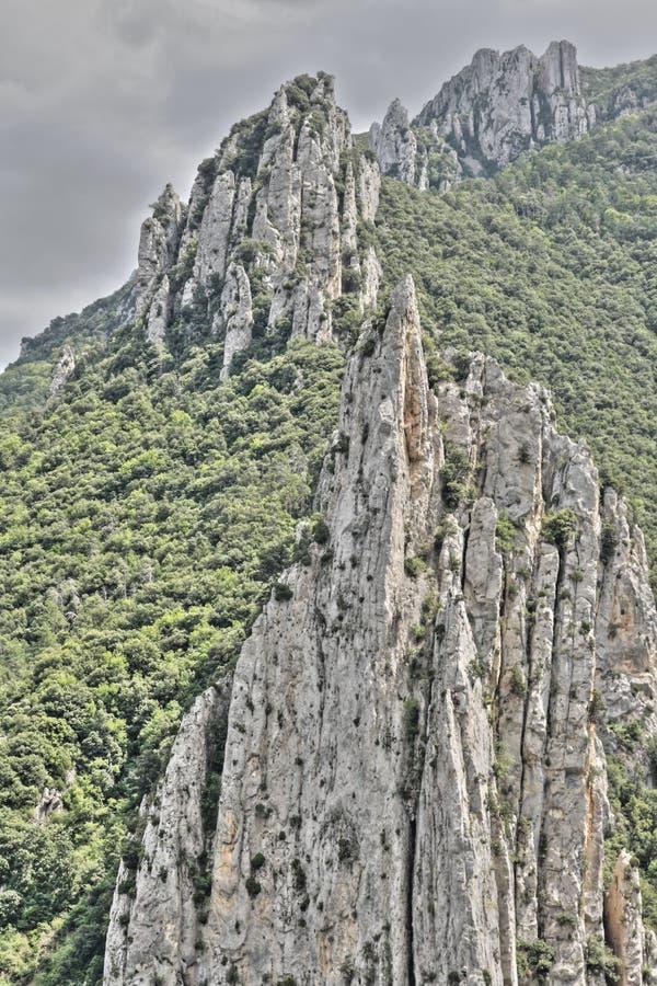 Canyon de Pierre Lys dans Pyrénées, Frances image stock
