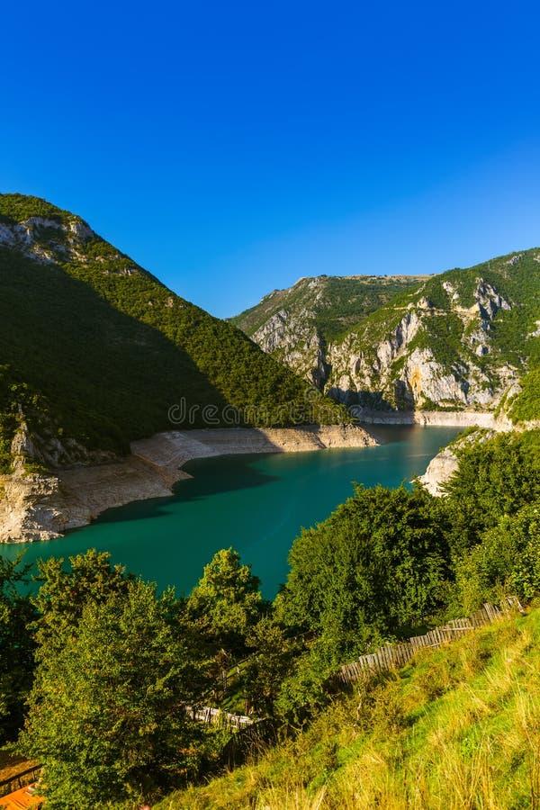 Canyon de Piva - Monténégro image libre de droits