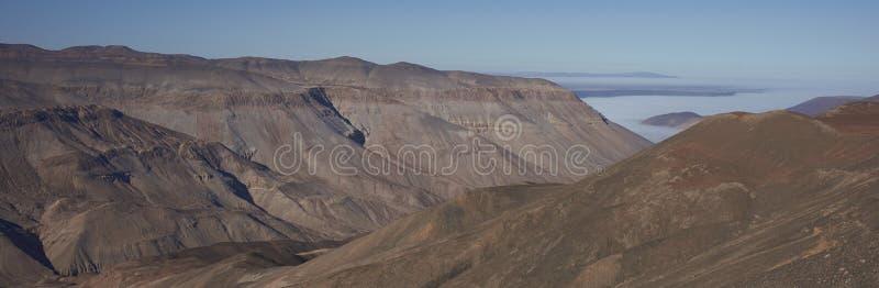 Canyon de Rio Camarones dans le désert d'Atacama images libres de droits