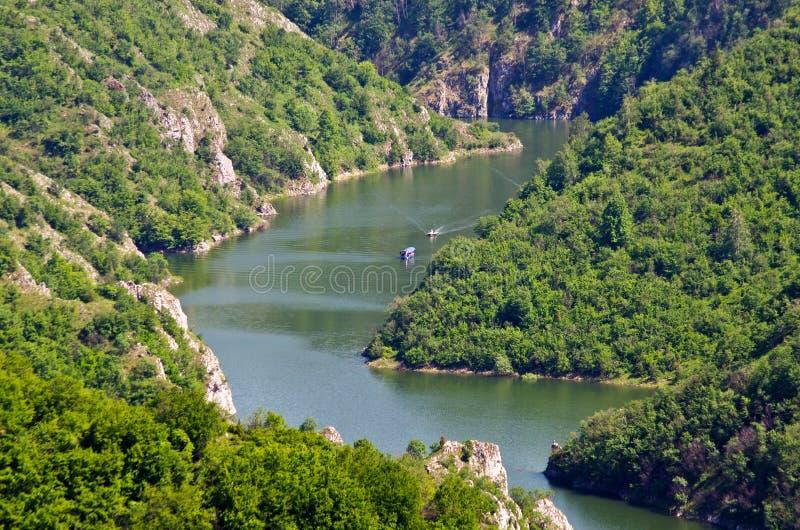 Canyon de rivière d'Uvac, Serbie photos libres de droits
