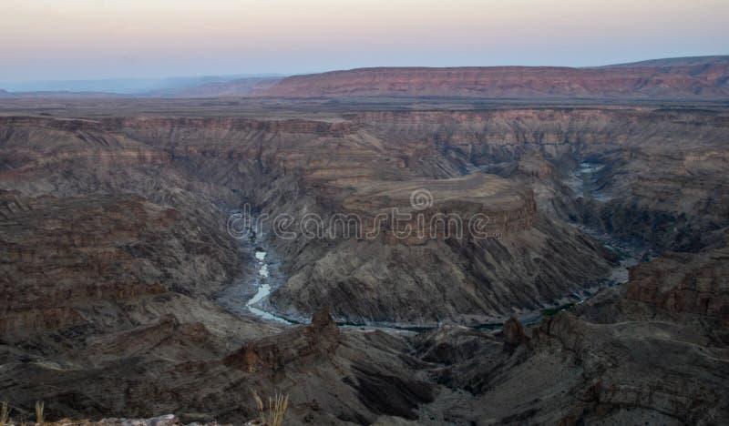 Canyon de rivière de poissons image libre de droits