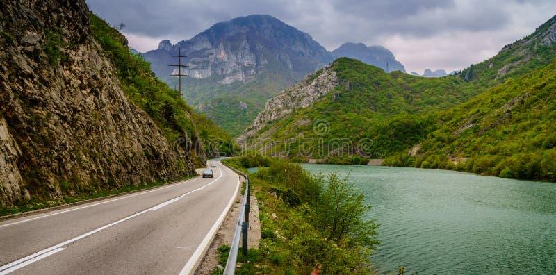 Canyon de rivière de Neretva images stock