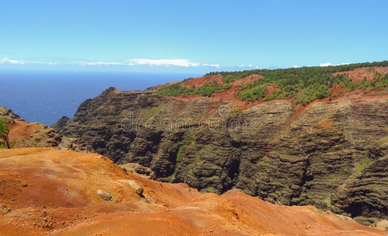 Canyon de Waimea, aka Grand Canyon du Pacifique, Kauai, Hawaï, Etats-Unis images stock