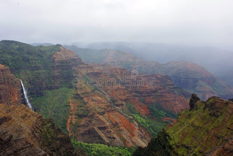 Canyon de Waimea - Kauai, îles hawaïennes photos libres de droits