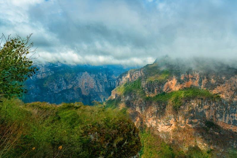 Canyon del苏米德罗国立公园 恰帕斯州,墨西哥 库存图片