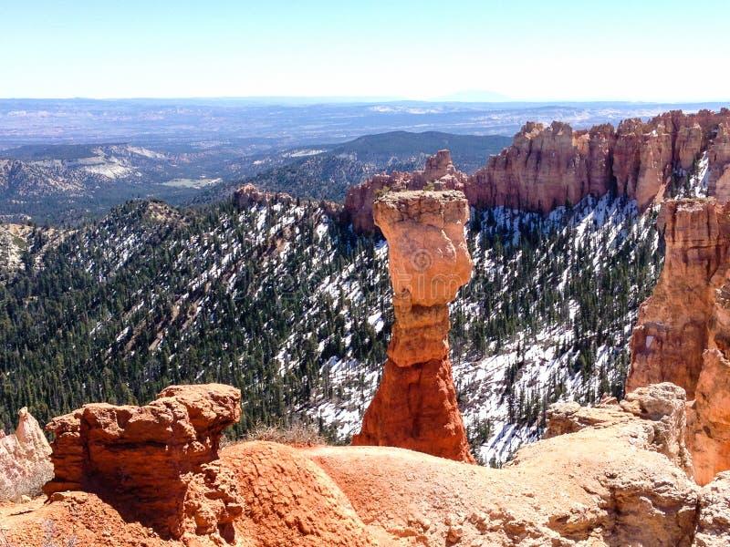 Canyon del Agua, Bryce Canyon su sole fotografia stock libera da diritti