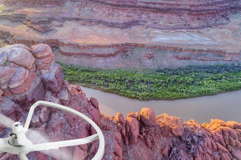 Canyon del fiume Colorado - concetto di fotografia aerea immagine stock
