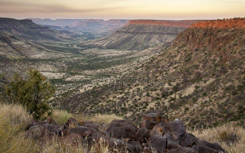 Canyon del fiume di Klip - del Namibia immagini stock libere da diritti