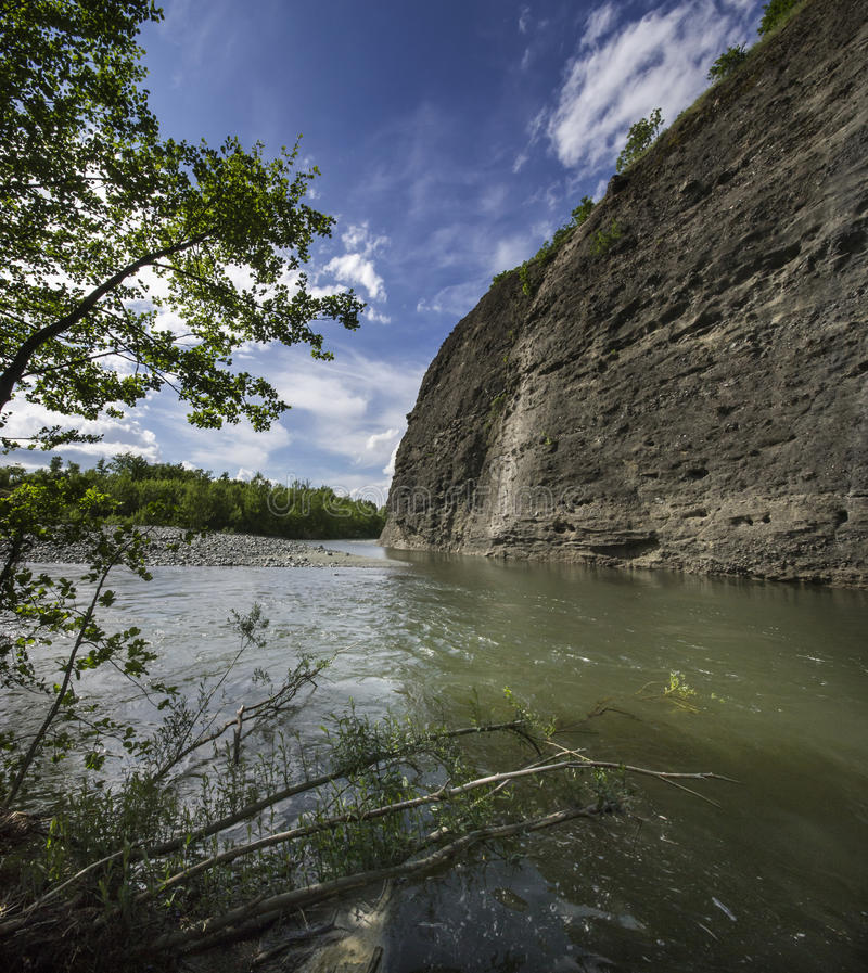 Canyon del fiume Piota fotografie stock libere da diritti