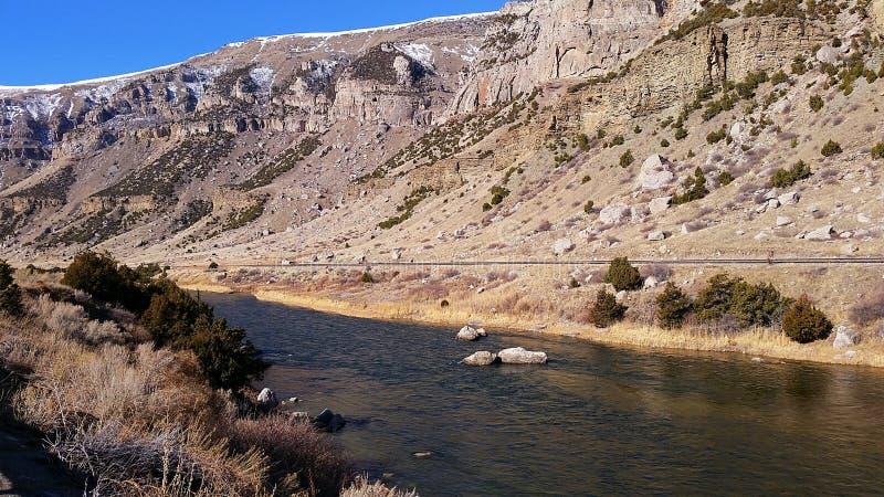 Canyon del fiume Wind immagini stock libere da diritti