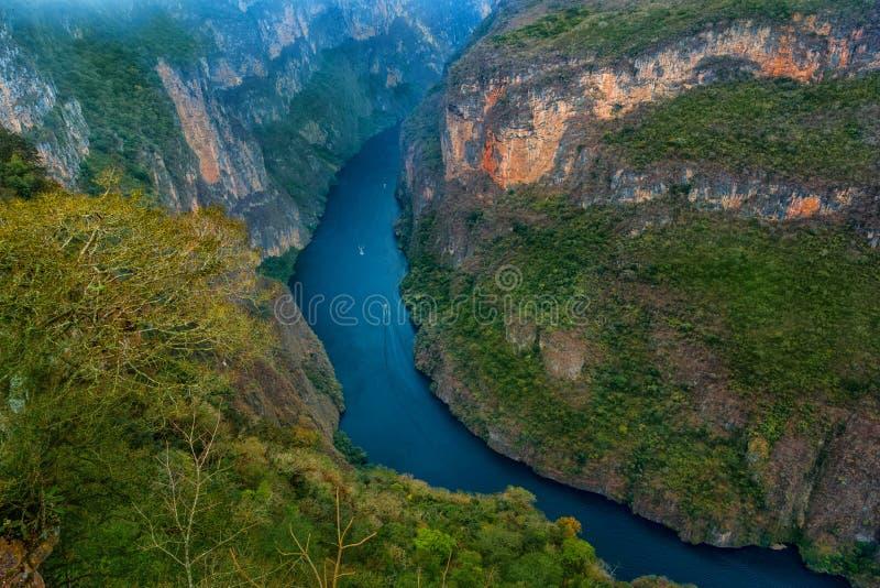 Canyon del Sumidero国家公园 库存照片