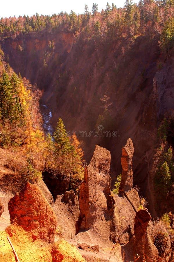 Canyon del vulcano immagini stock