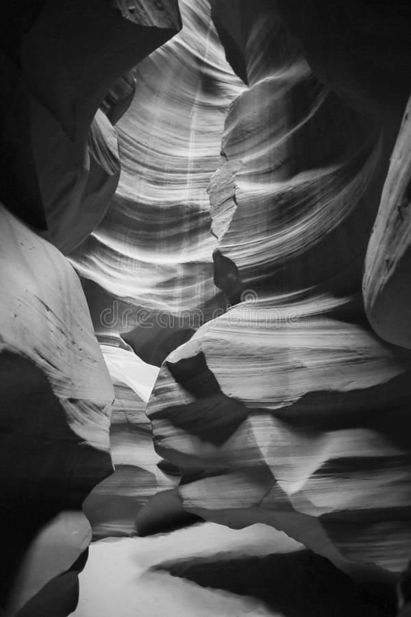 Canyon dell'antilope in B&W fotografia stock
