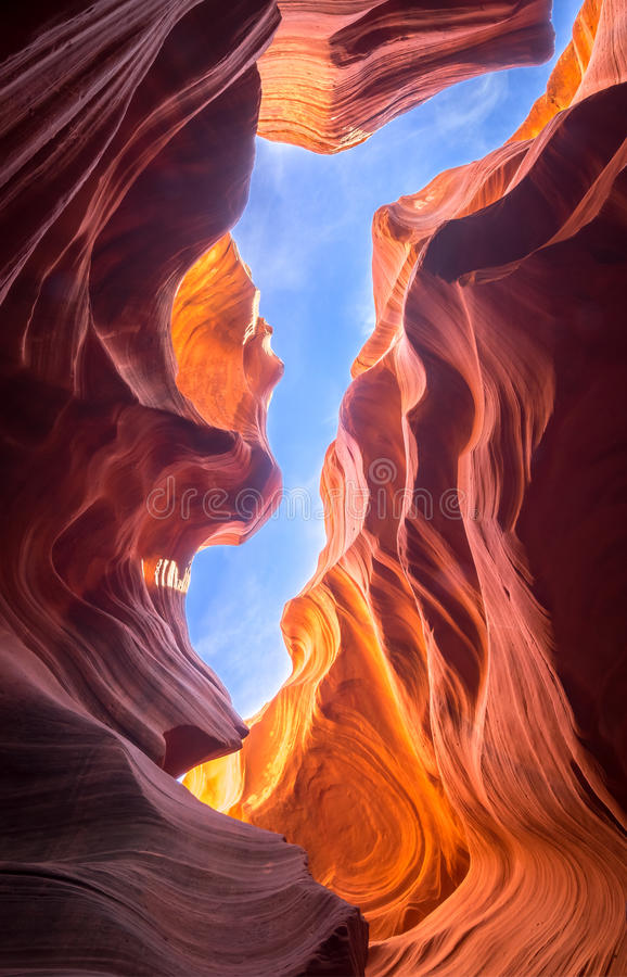 Canyon dell'antilope in pagina, Arizona fotografia stock libera da diritti