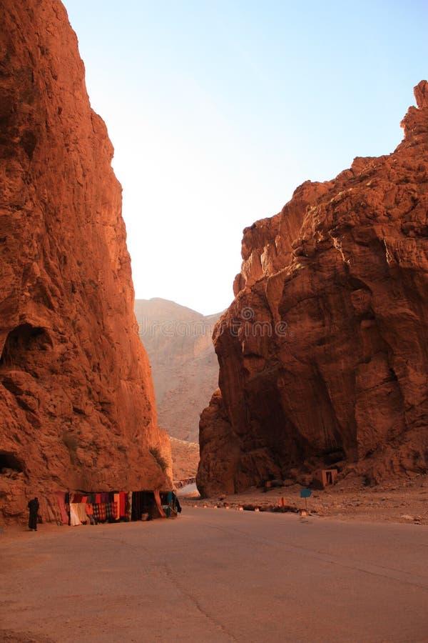 Canyon della gola di Todgha nell'atlante Marocco fotografia stock