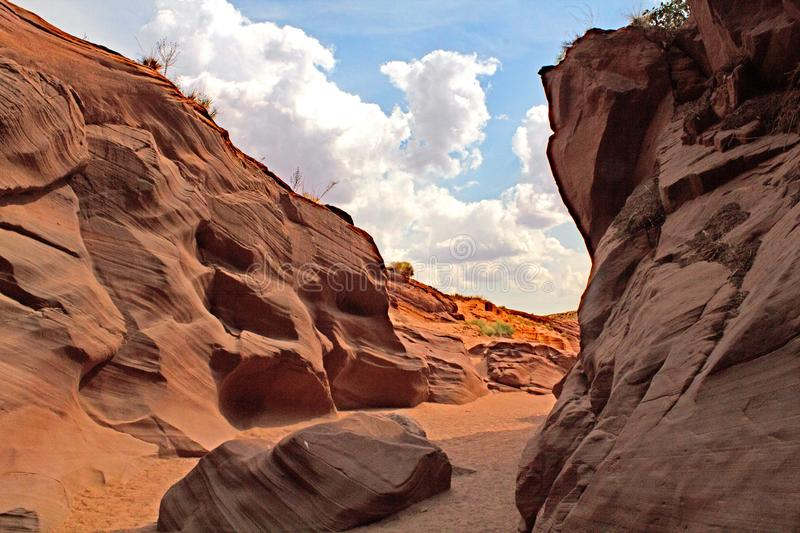 Canyon della scanalatura in Arizona fotografia stock