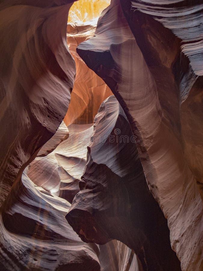 Canyon della scanalatura dell'antilope in pagina fotografia stock