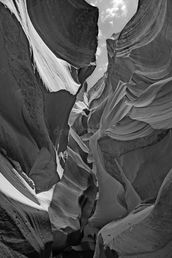 Canyon della scanalatura dell'antilope in pagina Arizona immagine stock