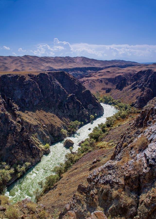 Canyon di Charyn fotografie stock libere da diritti