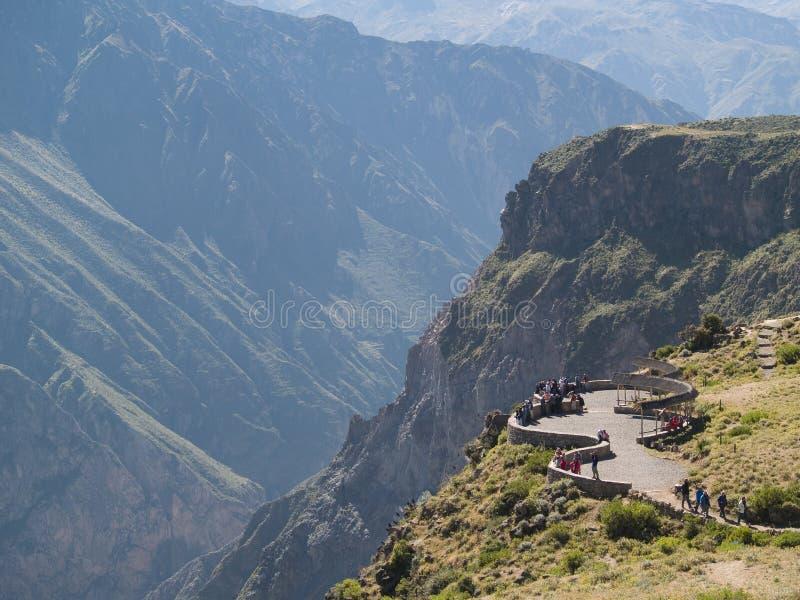Canyon di Colca nel Perù immagini stock