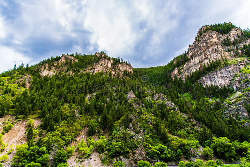 Canyon di Glenwood in Colorado fotografia stock