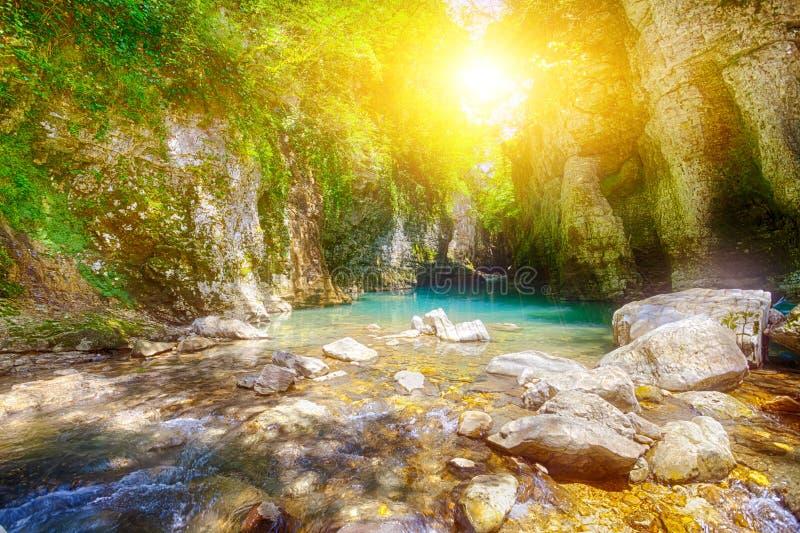 Canyon di Martvili in Georgia immagini stock libere da diritti