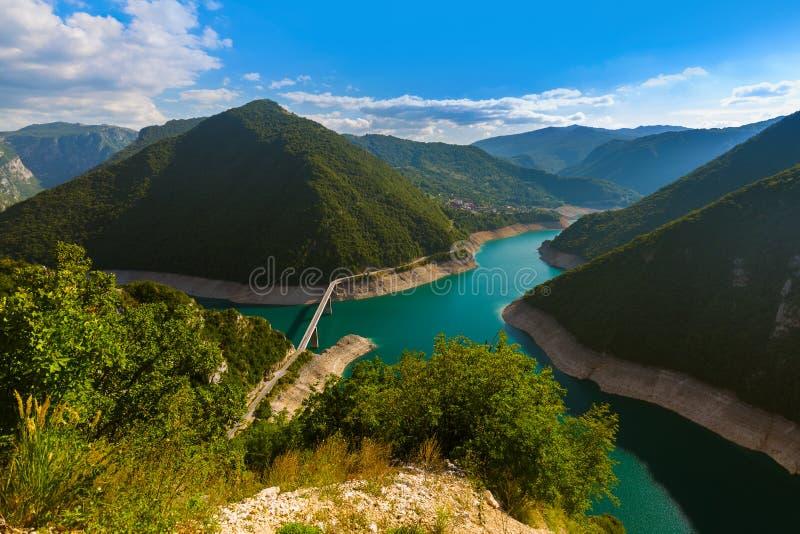 Canyon di Piva - Montenegro fotografia stock