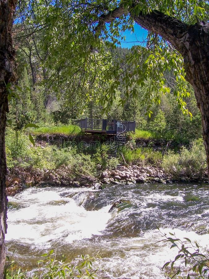 Canyon di Poudre, vista del fiume Colorado fotografie stock