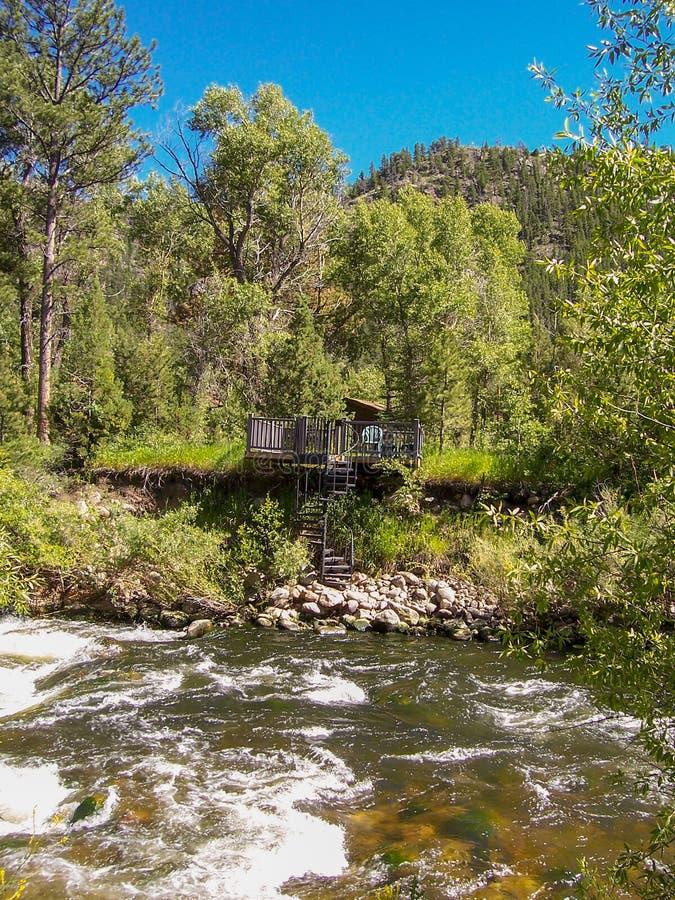 Canyon di Poudre, vista del fiume Colorado immagini stock