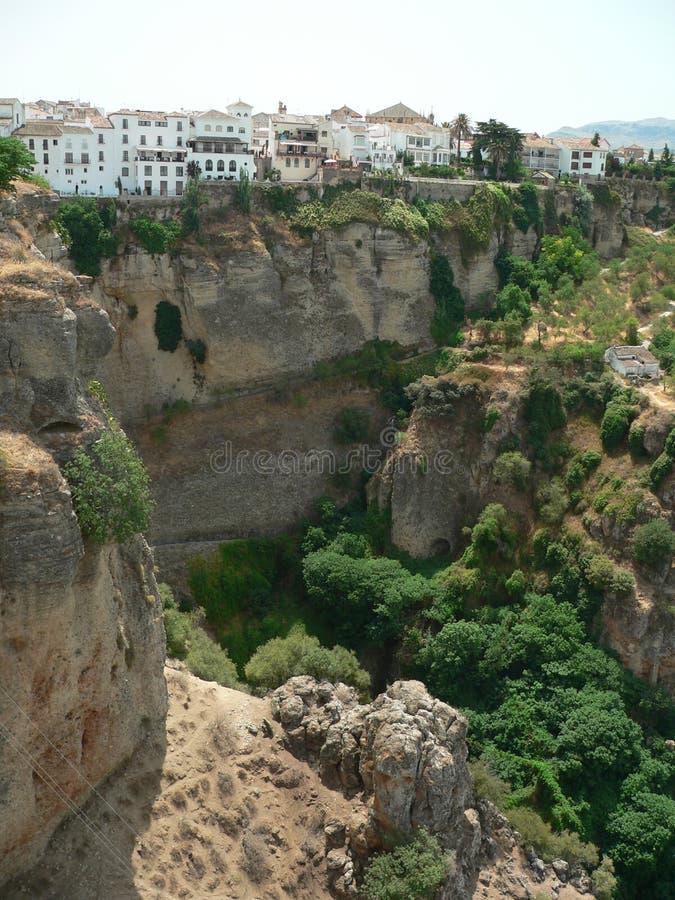 Canyon di Ronda fotografie stock