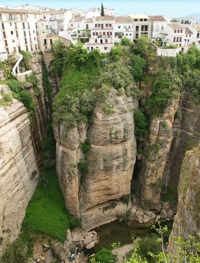 Canyon di Ronda, Spagna Andalousia fotografia stock libera da diritti