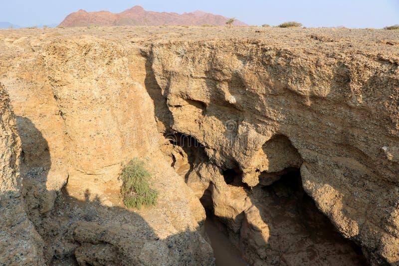 Canyon di Sesriem - Sossusvlei - Namibia Africa fotografia stock