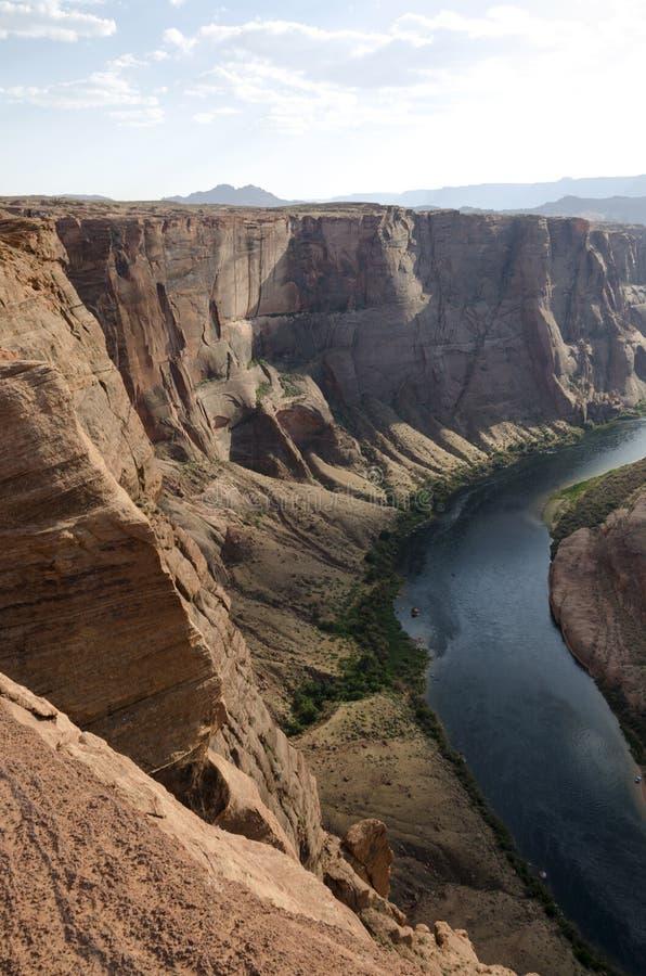 Canyon en fer à cheval aux Etats-Unis image libre de droits
