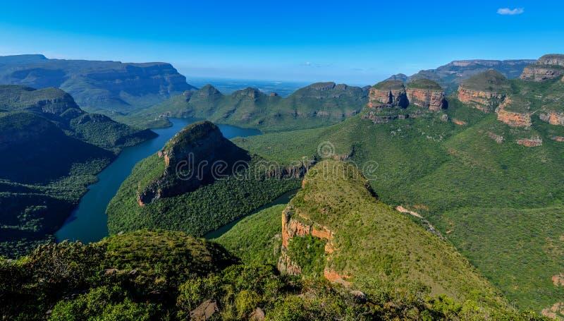 Canyon et les trois Rondavels de rivière de Blyde photos libres de droits