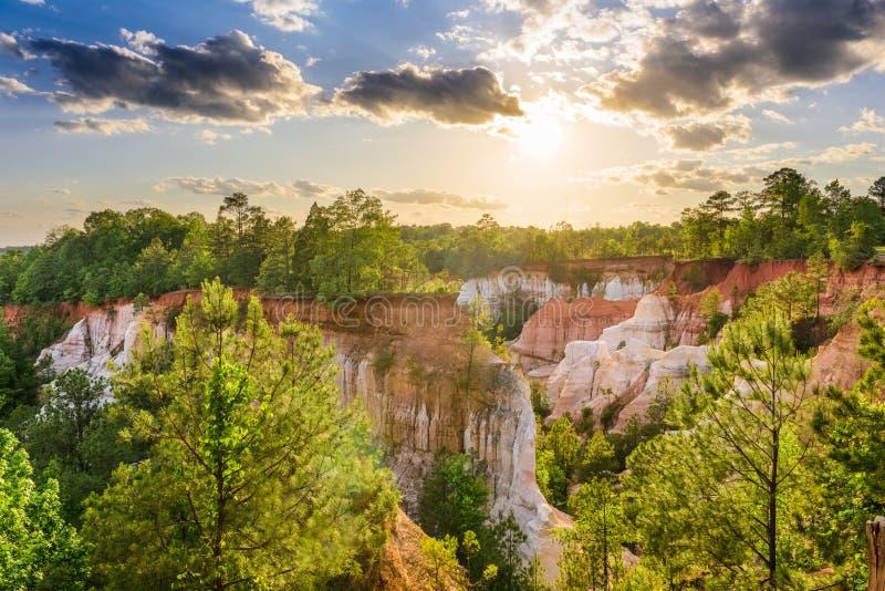 Canyon Georgia di provvidenza immagini stock