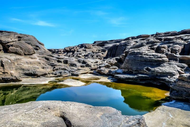 Canyon grand de bok de la Thaïlande Sam Phan images stock