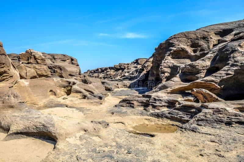 Canyon grand de bok de la Thaïlande Sam Phan image libre de droits