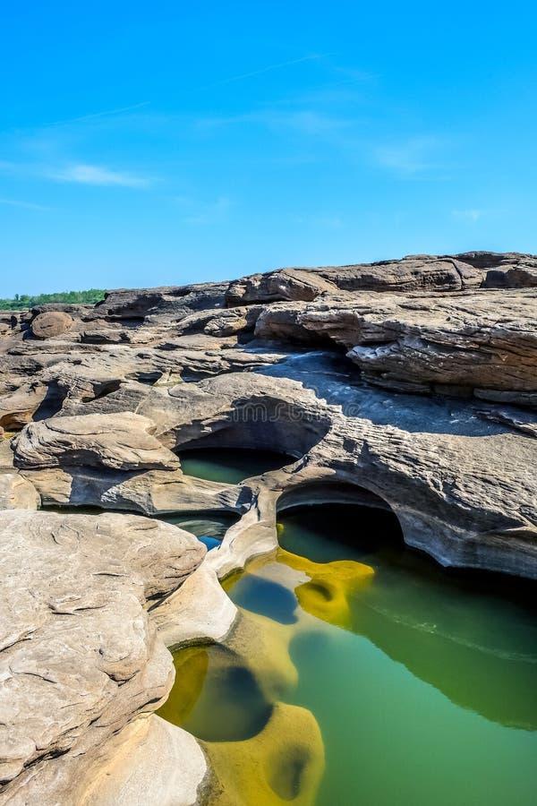 Canyon grand de bok de la Thaïlande Sam Phan photo libre de droits