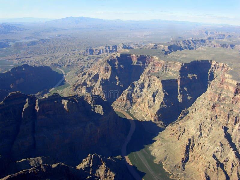 Canyon grand et fleuve Colorado photo libre de droits