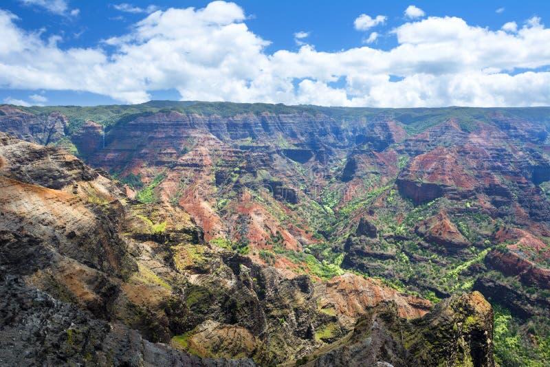 Canyon Hawai di Waimea fotografia stock