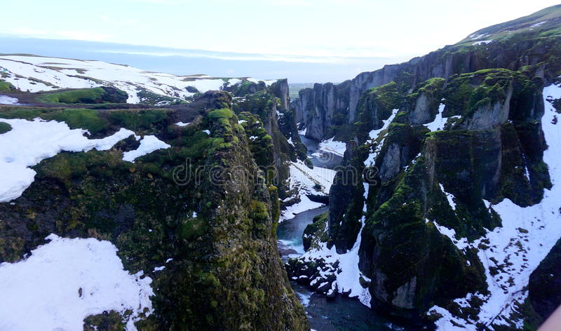 Download Canyon in Iceland stock image. Image of grass, green - 88843607
