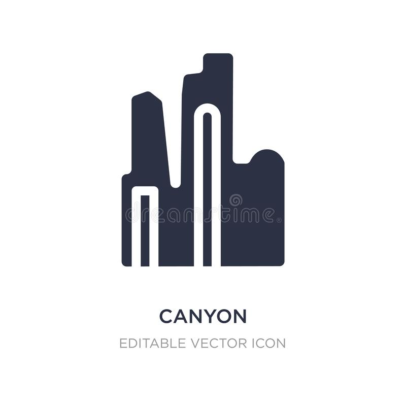 canyon icon on white background. Simple element illustration from Monuments concept royalty free illustration