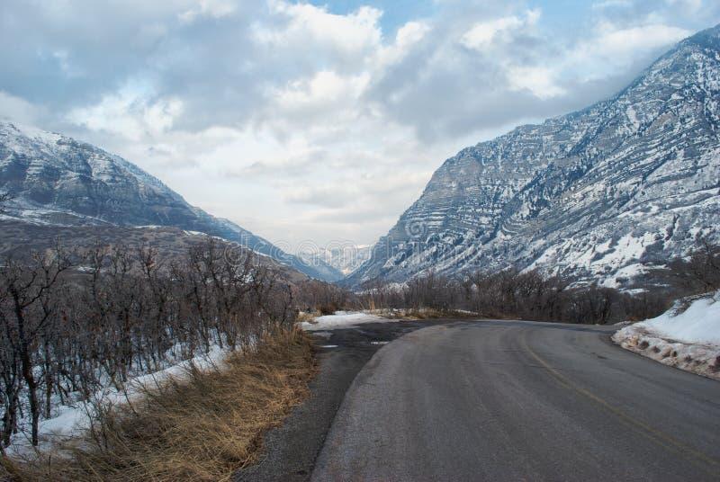 Canyon in inverno fotografia stock