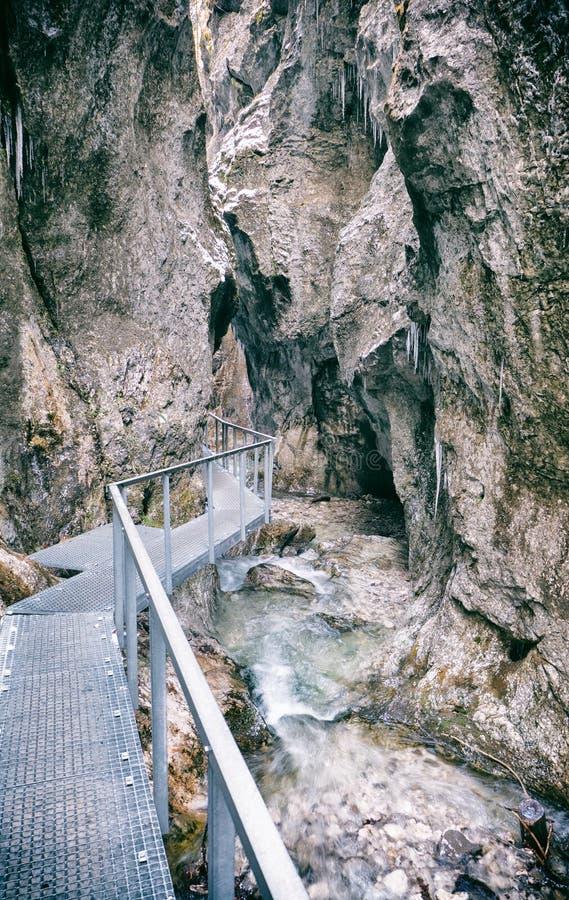 Canyon in Janosikove diery, Slovakia stock photos