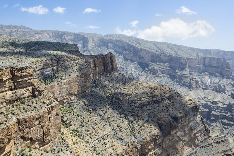 Canyon Jebel Shams royalty free stock image