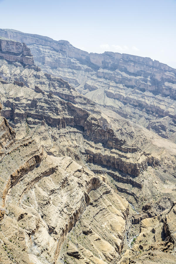 Canyon Jebel Shams royalty free stock images