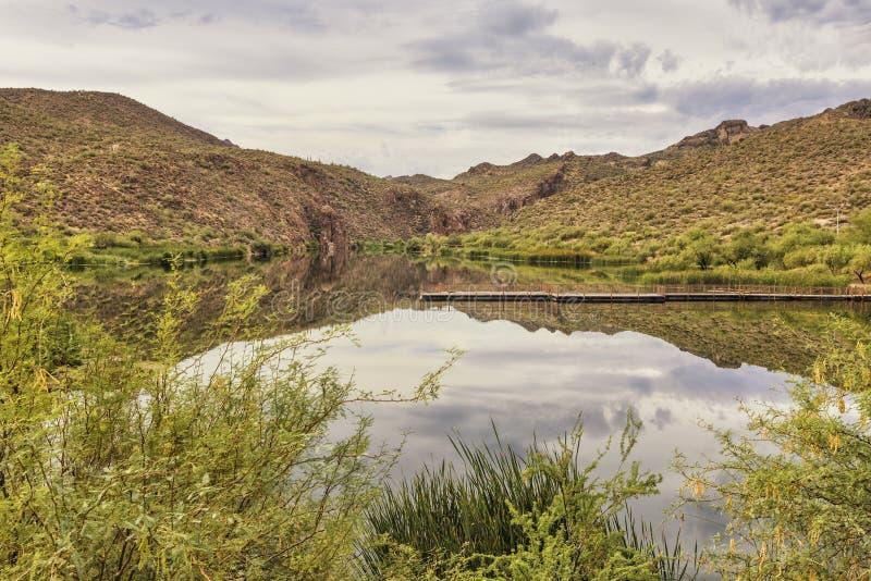 Canyon Lake at Apache trail scenic drive, Arizona royalty free stock photography