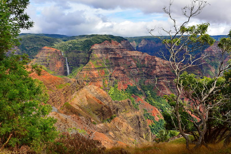 Canyon magnifico di Waimea immagine stock