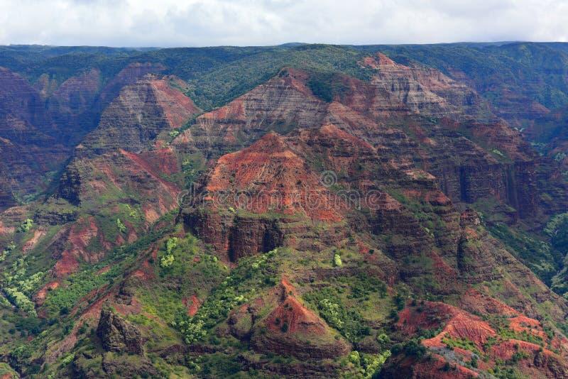 Canyon magnifico di Waimea (anche conosciuto come Grand Canyon del Pacifico) nell'isola di Kauai fotografia stock